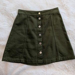Amy green mini skirt